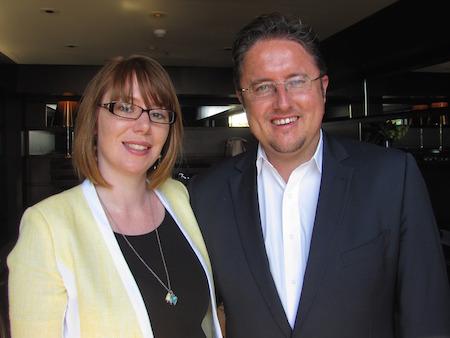 Ingrid Kocijan (Rail Europe) and James Dunne (Rail Plus)