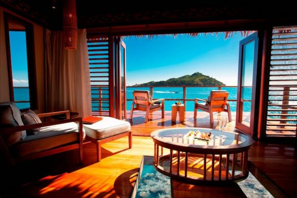 View from an over water bungalow Likuliku Fiji