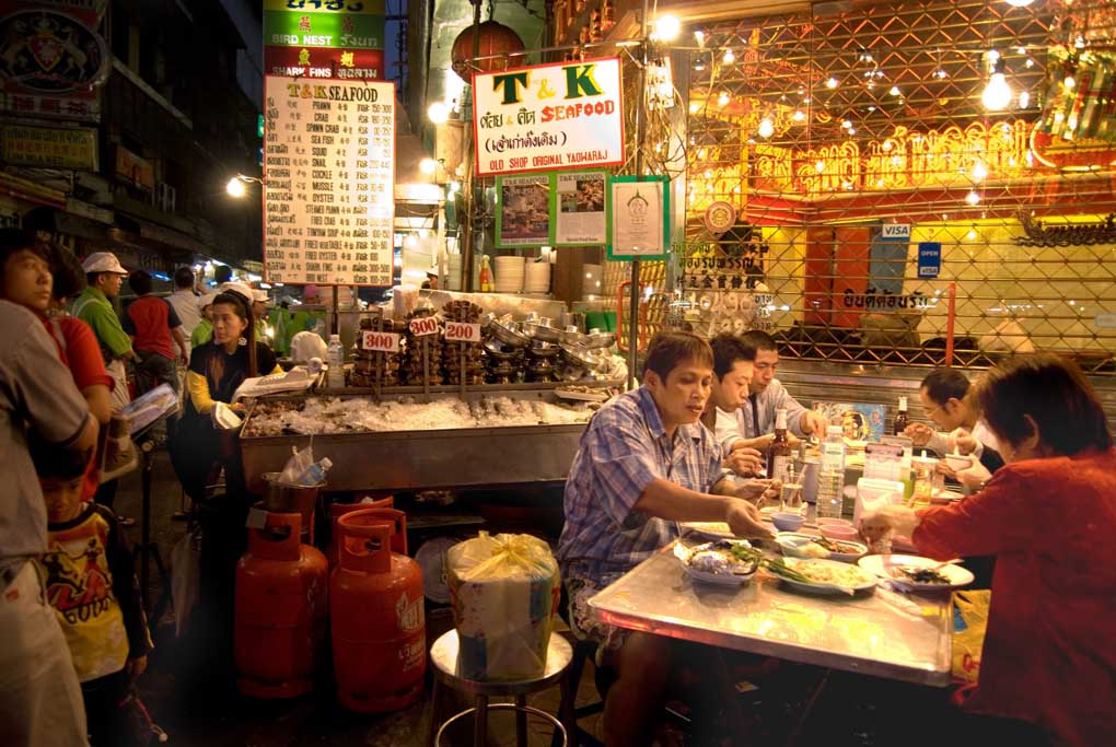 Street Food on Yaowarat Road (Chinatown), Bangkok