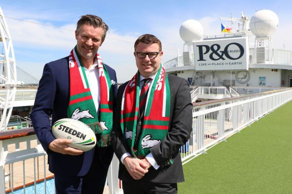 P&O Cruises President Sture Myrmell Rabbitohs CEO Blake Solly