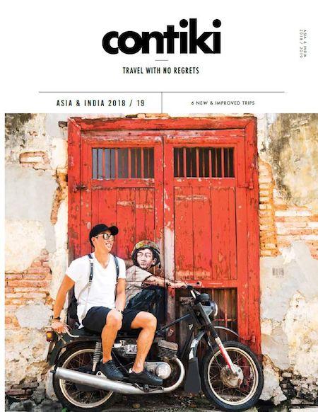 Contiki Asia brochure cover 2018