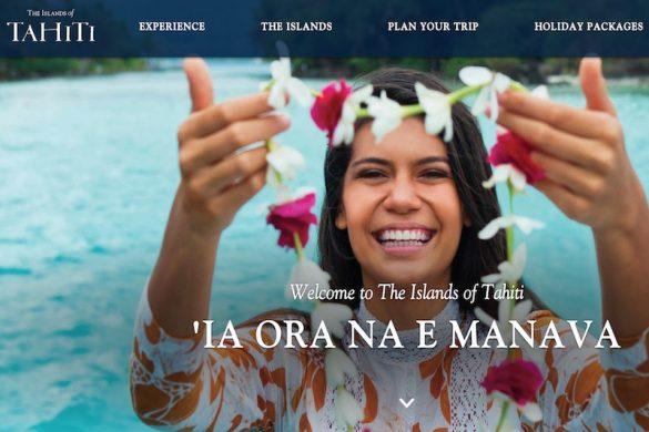 Tahiti Tourisme new website screenshot