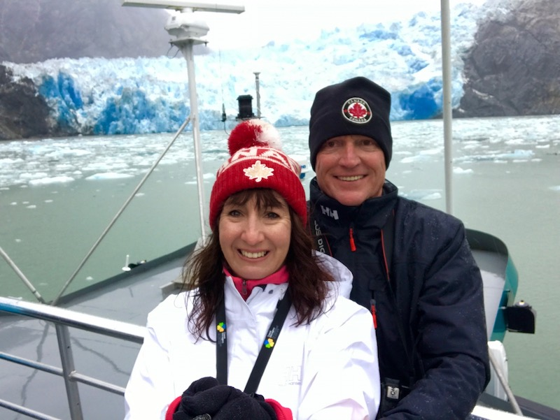 Aboard MS Nieuw Amsterdam at Sawyer Glacier, Tracy's Arm, in Alaska