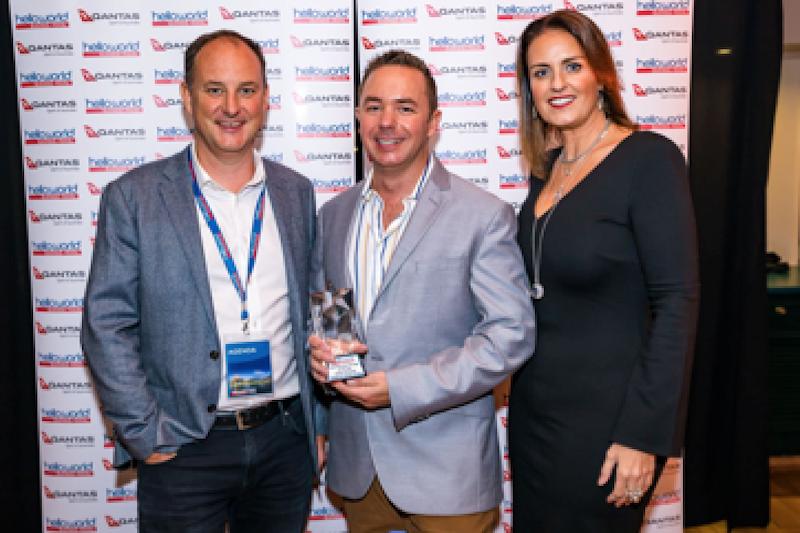 : David Padman (Helloworld Travel Limited), Chris Cheyne (Goldman Travel Group), Kate Cameron (Helloworld Business Travel)