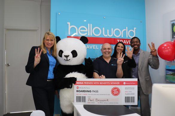 Helloworld agent winner of WWT incentive