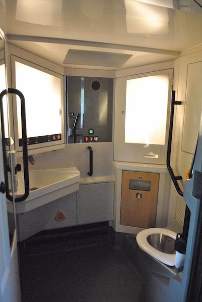 State-of-the-art lavatory design on TGV trains