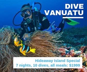 Dive Vanuatu at Hideaway Island $1999 all-inclusive deal